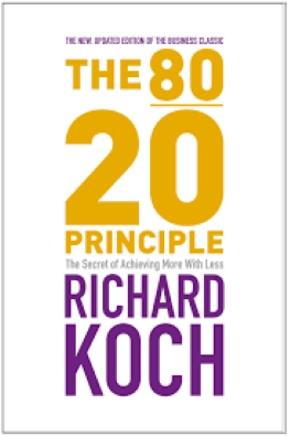 The 80/20 Principle.